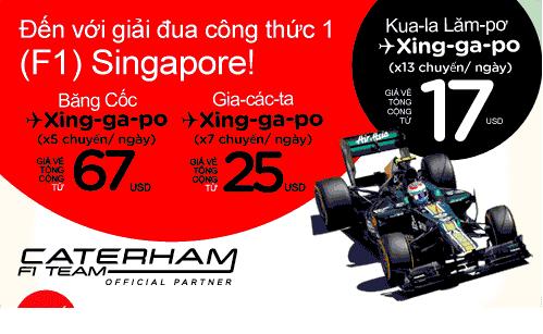 vé máy bay Air Asia đi Singapore