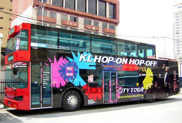 Xe bus mui trần ở Kuala Lumpur