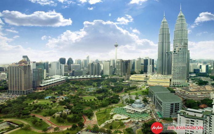 Một góc thành phố Kuala Lumpur
