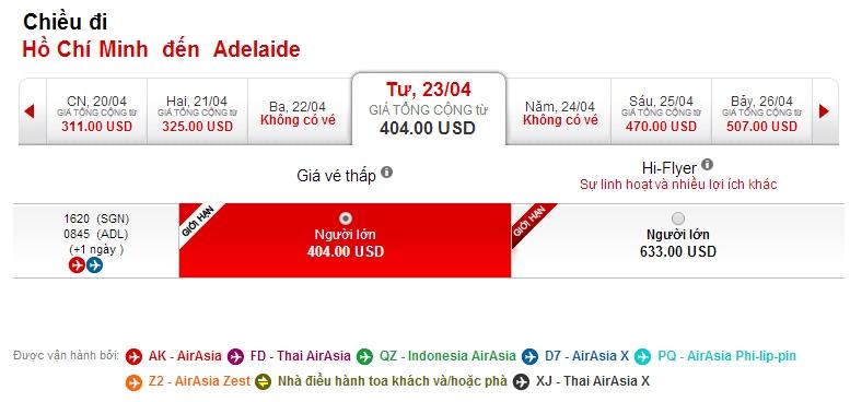 vé máy bay đi Adelaide giá rẻ