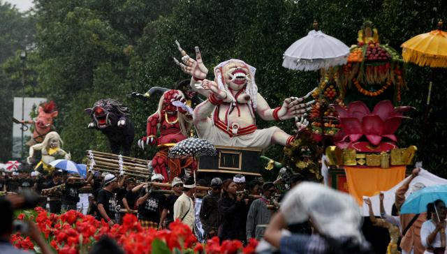 Ngày tết Nyepi không âm thanh ở Indonesia