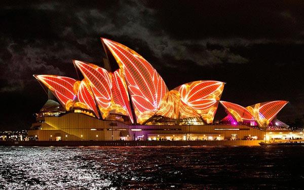 Rực rỡ  lễ hội ánh sáng ở Sydney, Úc