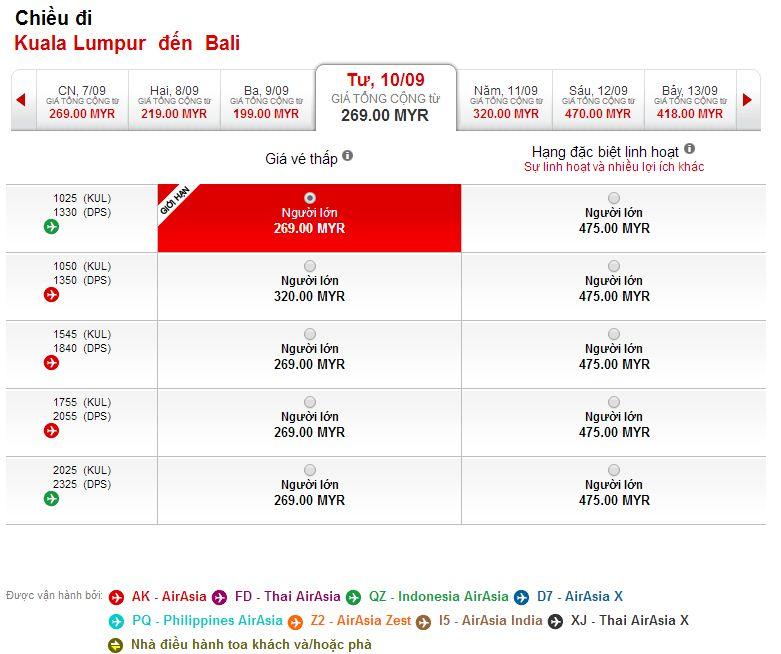 Đặt mua vé máy bay Hà Nội đi Bali giá rẻ