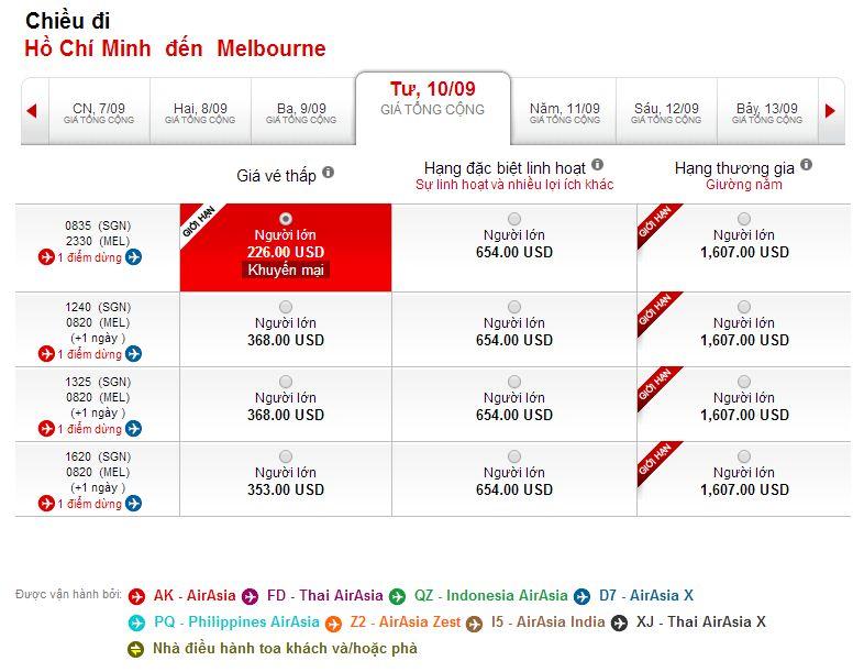 Vé máy bay Hồ Chí Minh đi Melbourne giá rẻ