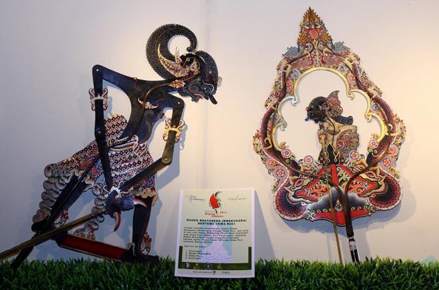 Hấp dẫn nghệ thuật múa rối bóng Indonesia