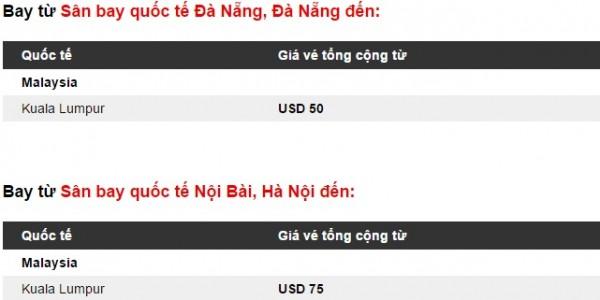 Du ngoạn tới Malaysia chỉ từ 3 USD