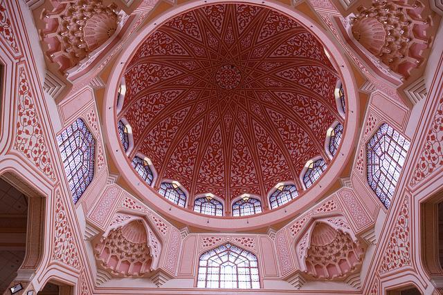 Putra ngôi đền hồi giáo màu hồng ở Malaysia