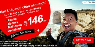 Bay khắp nơi chào năm mới với vé Air Asia chỉ từ 146 USD