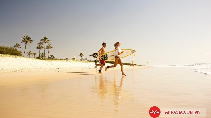 Biển Gold Coast là thiên đường của những người mê lướt sóng