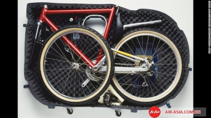 Xe đạp mang lên máy bay phải được đóng bọc cẩn thận