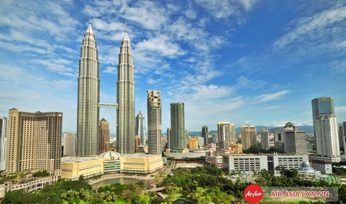 Tháp đôi Petronas ở thủ đô Kuala Lumpur