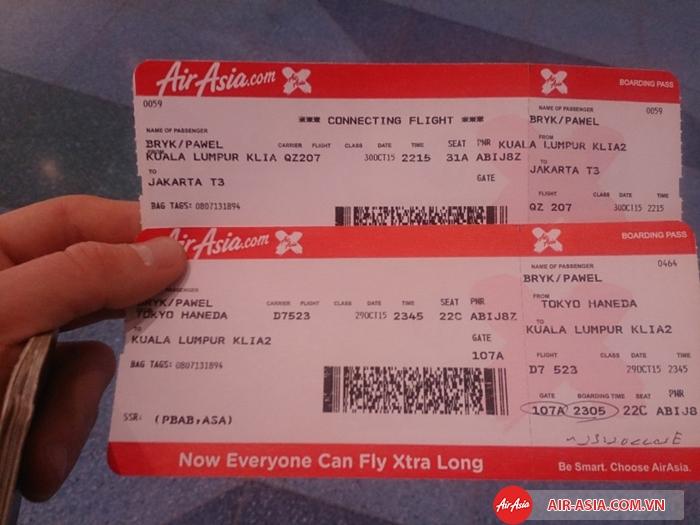 Air Asia áp dụng đổi vé cho từng hạng vé