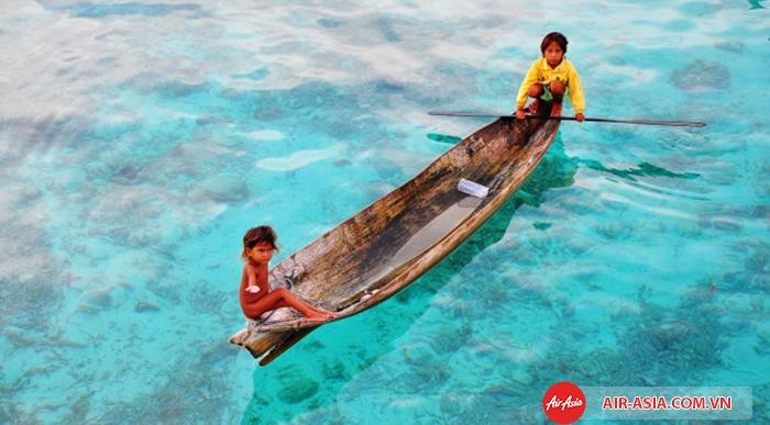 Mabul nổi tiếng với nước biển xanh trong màu ngọc