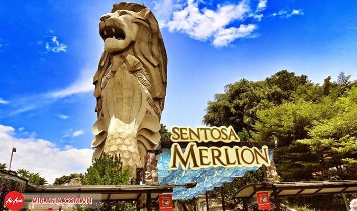 Tượng sư tử biển Sentosa