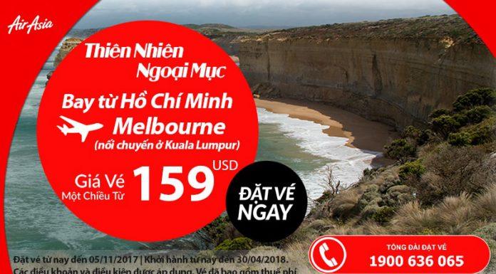 Air Asia KM vé đi Úc giá rẻ từ TP.HCM