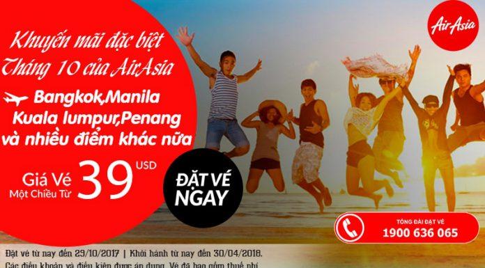 Air Asia KM vé chỉ từ 39 USD/chiều
