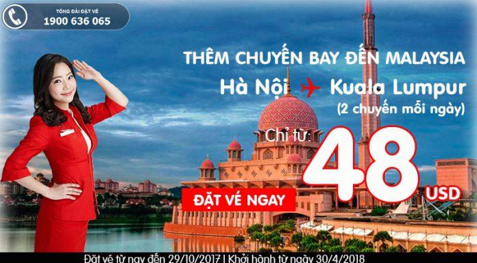 Air Asia KM vé đến Kuala Lumpur từ Hà Nội