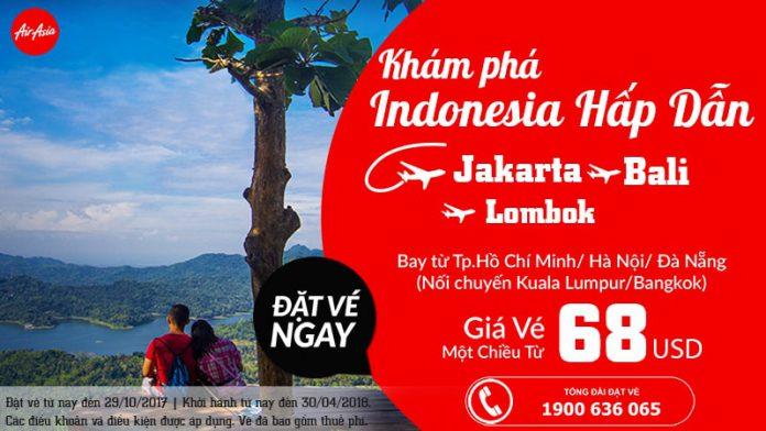 Air Asia ưu đãi vé đến Indonesia giá rẻ tháng 10