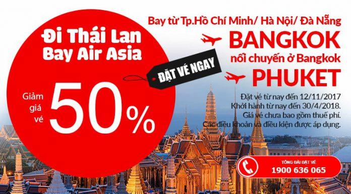 KM mới của Air Asia cho hành trình đến Bangkok Thái Lan