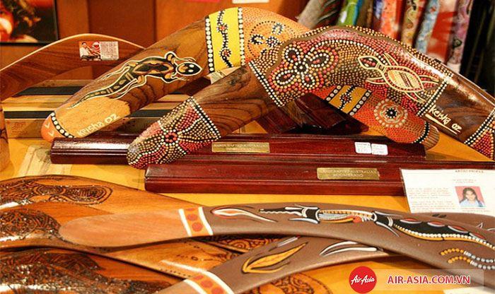 Tác phẩm nghệ thuật của thổ dân cũng rất đáng để mua làm quà tặng