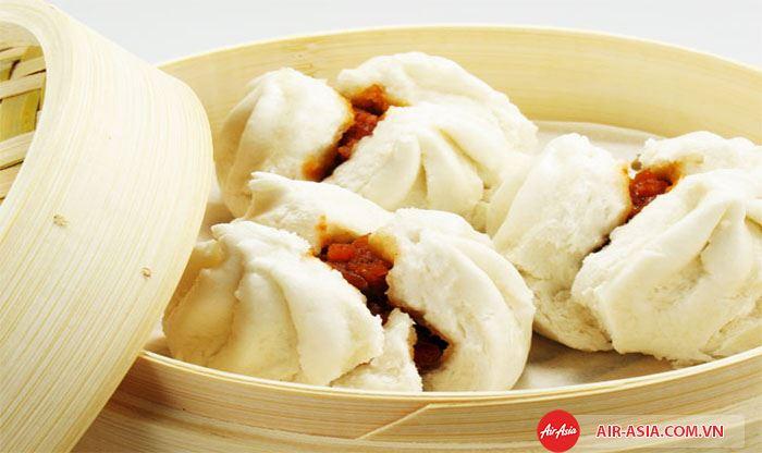 bánh bao dim sum kiểu Thái