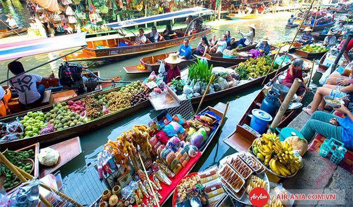 Chợ nổi đặc sắc ở Thái Lan