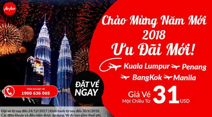 Air Asia KM vé một chiều chỉ từ 31 USD