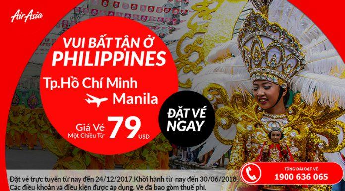 Du lịch Philippines với vé Air Asia từ 79 USD