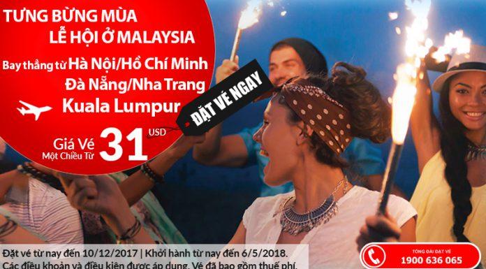 Air Asia KM vé đi Malaysia