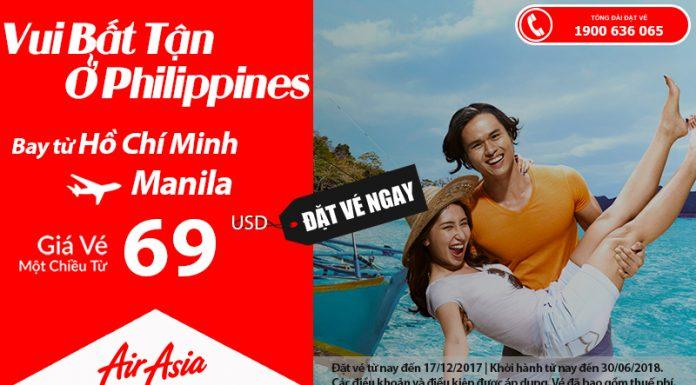 Air Asia KM vé HCM - Manila