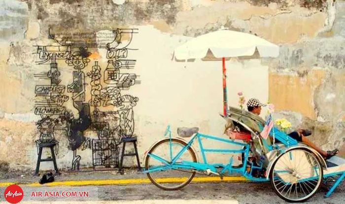 Những bức tranh tường độc đáo ở Penang