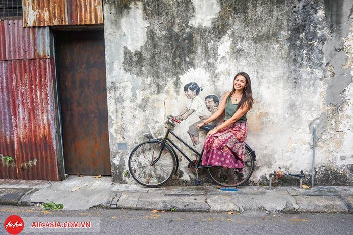 Chụp ảnh ở phố cổ Penang