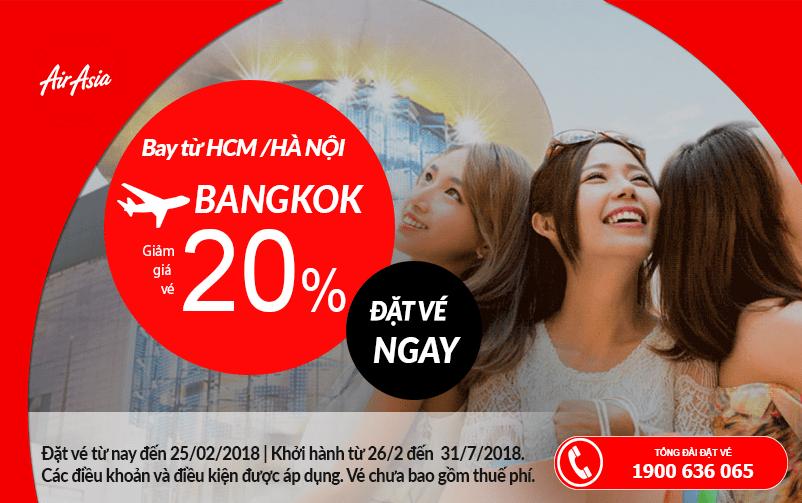 Giảm 20% giá vé cho hành trình bay đến Thái Lan