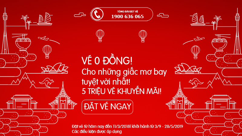 Air Asia mở bán 5 triệu vé 0 đồng