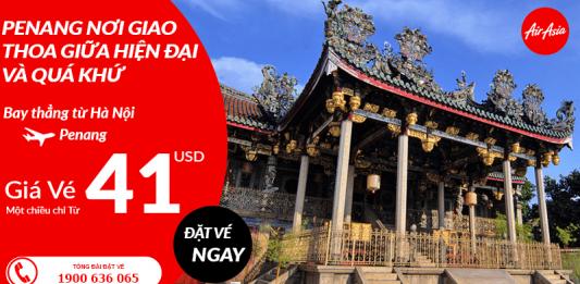 Air Asia khuyến mại vé máy bay đi Penang giá rẻ