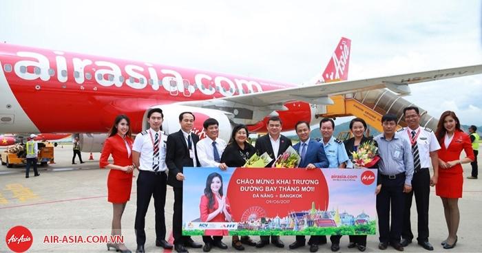 Air Asia khai thác bay thẳng Đà Nẵng - Bangkok từ 9/6/2017 vừa qua