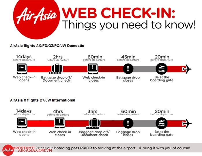 Những lưu ý đối với hành khách tự check-in