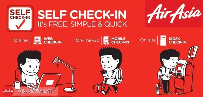 Tự check-in với Air Asia