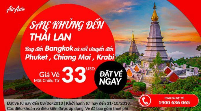 Đặt vé máy bay đi Thái Lan từ 33 USD