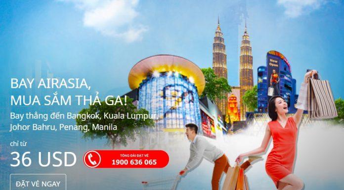 Air Asia mở bán vé rẻ từ 36 USD/chiều